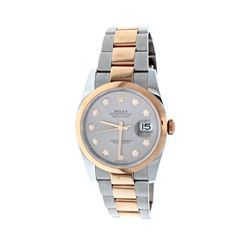 WATCH: [1] 18kt rose gold and stainless steel Rolex DateJust Oyster Perpetual automatic wristwatch;