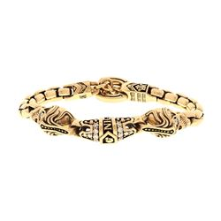 BRACELET: [1] 14kt yellow gold NightRider Royal Mortem diamond bracelet; from NightRider jewelry Jaw