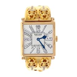 WATCH: [1] 18kt rose gold Roger Dubuis Golden Square automatic wristwatch, Model # G 40 57 5, MVMT #