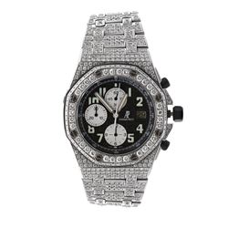 WATCH: [1] Men's stainless steel Audemars Piguet Royal Oak Offshore chronograph watch; (834) rb diam