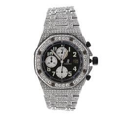 WATCH: [1] Men's stainless steel Audemars Piguet Royal Oak Offshore chronograph watch; (834) rb diam