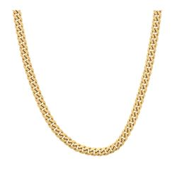CHAIN: [1] 10k yellow gold chain, 30 inches long, 6.94mm wide, box clasp; 93.6 grams.