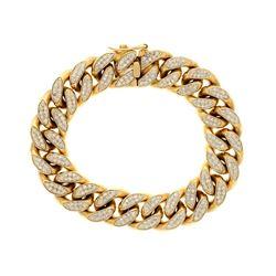 BRACELET: [1] 10ky tested bracelet, 8.5 inches long; (352) rb diamonds, 1.3mm-1.4mm =est. 4.55cttw,