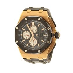 WATCH:  [1] 18KRG gents Audemars Piguet Royal Oak Offshore 59 jewels movement watch with an exhibiti