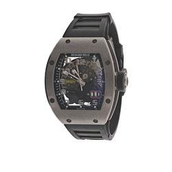 WATCH: [1] Titanium Richard Mille 'Big Date' 50M watch, 48mm x 39mm case; skeleton back, sapphire cr