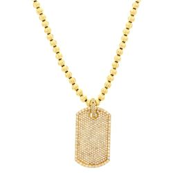 NECKLACE:  [1] 10 karat yellow gold 5.9mm moon bead necklace, 38'' and [1]  yellow gold plated 10 ka