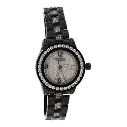 WATCH:  [1] Stainless steel with aftermarket black finish ladies Breitling Colt Oceane quartz watch