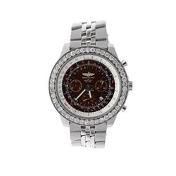 WATCH:  [1] Stainless steel gents Breitling for Bentley Motors Automatic Chronograph watch with a bl