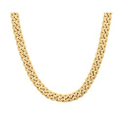 CHAIN: [1] 14ky stamped chain, 29 inches long, 12.80mm wide; 308.9 grams.