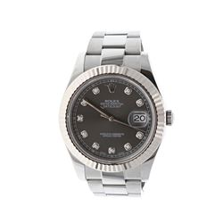 ROLEX: [1] St.steel Rolex Oyster Perpetual DateJust II watch, 40mm case, 18kw fluted bezel, oyster b