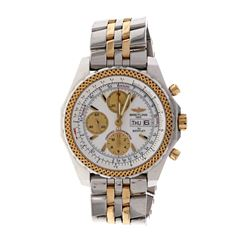 WATCH: [1] 18k yellow gold & stainless steel Breitling for Bentley watch; 44m case, white and gold d