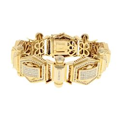 BRACELET: [1] 14k yellow gold bracelet 8.5 inches long with (550) diamonds, 1.3mm-1.5mm = an estimat