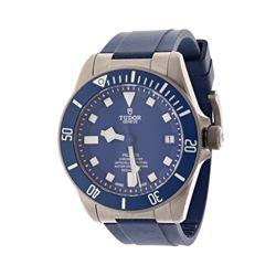 WATCH: [1] Titanium Tudor Pelagos Chronograph 500M watch, 42mm case, blue dial, date @ 3:00, blue un