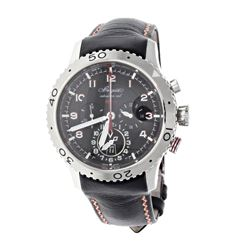 WATCH: [1] Stainless steel Breguet Transatlantique Type XXII 100M watch; 44mm case, Black dial with