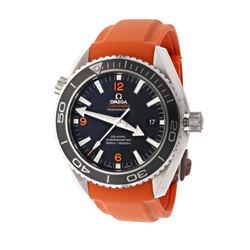 WATCH: [1] Stainless steel Omega Planet Ocean Seamaster 600M watch; 43.5mm case, black & orange dial