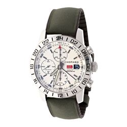 WATCH: [1] Stainless steel Chopard Mille Miglia GMT Chronograph 50M watch; 42mm case, cream dial wit