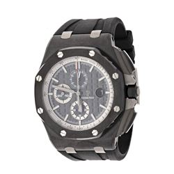 WATCH: [1] Stainless steel & Titanium Audemars Piguet Royal Oak Offshore watch; 42mm case, grey dial