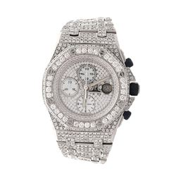 WATCH: [1] Stainless steel Audemars Piguet Royal Oak Offshore watch with aftermarket diamonds and cr