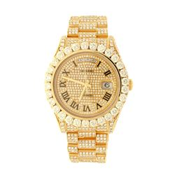 ROLEX: [1] 18ky Rolex President watch with aftermarket diamonds;  diamond dial, diamond bezel, Jubil