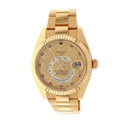 WATCH: [1] 18kt yellow gold Rolex Oyster Perpetual Sky Dweller; Gold tone Chronometer Annual Calenda