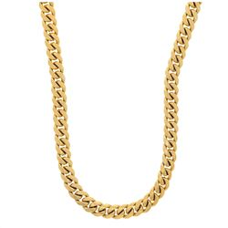 NECKLACE: [1] 14KYG curb link chain, 34 inch, 9.7mm width, 237.9 grams