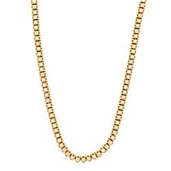 NECKLACE: (1) 10k yellow gold chain, 26.5 inches long; (158) round brilliant cut diamonds, 3.1mm = a