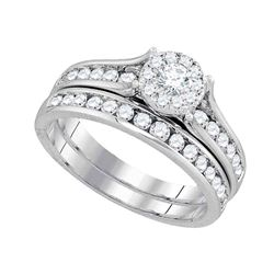 1 CTW Diamond Bridal Wedding Engagement Ring 14KT White Gold - REF-127K4W