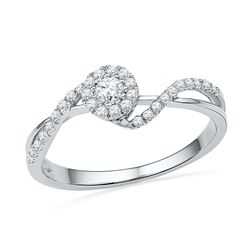 0.25 CTW Diamond Solitaire Bridal Engagement Ring 10KT White Gold - REF-22W4K