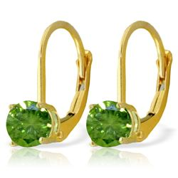 Genuine 1.0 ctw Diamond Anniversary Earrings Jewelry 14KT Yellow Gold - REF-204K6V