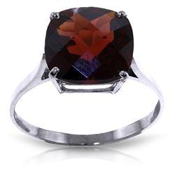 Genuine 4.5 ctw Garnet Ring Jewelry 14KT White Gold - REF-37A8K