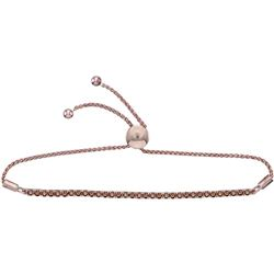 1.98 CTW Natural Brown Diamond Bolo Bracelet 10KT Rose Gold - REF-127Y4X