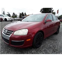 "A7 --  2006 VW Jetta , Red , 226676  KM's   ""No Reserve - Selling to the Highest Bidder"""