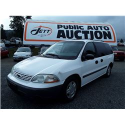 "A3 --  2002 Ford Windstar , White , 174121  KM's   ""No Reserve - Selling to the Highest Bidder"""