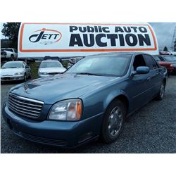 "A1 --  2000 Cadillac Deville , Blue , 256248  KM's  ""No Reserve - Selling to the Highest Bidder"""