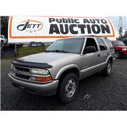 I1 --  2003 Chevrolet Blazer , Grey , 192108  KM's
