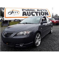 I2 --  2006 Mazda 3 , Grey , 201543  KM's
