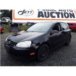 J2 --  2007 VW Rabbit , Black , 279800  KM's