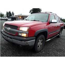 J6 --  2006 Chevrolet Avalanche , Red , 238880  KM's