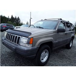 "A5 - 1997 Jeep Grand Cherokee , Grey , 189,263 MILES   ""No Reserve - Selling to the Highest Bidder"""