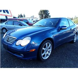 I3 --  2003 Mercedes-Benz C230K , Blue , 107392  KM's