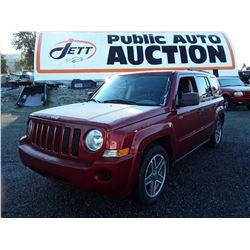 H6 --  2008 Jeep Patriot Sport , Red , 220969  KM's