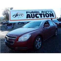 H4 --  2009 Chevrolet Malibu , Red , 120452  KM's