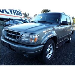 M4 -- 2000 FORD EXPLORER SUV, GREEN, 206,375 KMS