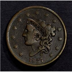1837 LARGE CENT VF