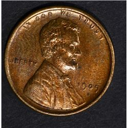 1909-S LINCOLN CENT, CH BU