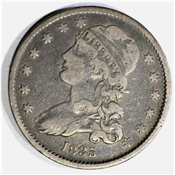 1835 CAPPED BUST QUARTER, VF/XF