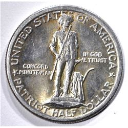 1925 LEXINGTON COMMEM HALF DOLLAR, XF/AU
