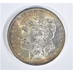 1883-O MORGAN DOLLAR, CH BU GORGEOUS OBV TONING