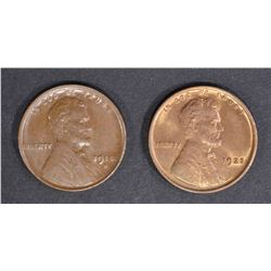1918-D AU/BU & 1925 CH BU RB LINCOLN CENTS