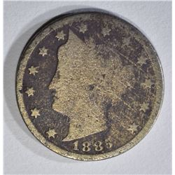 1885 LIBERTY NICKEL GOOD, CORROSION